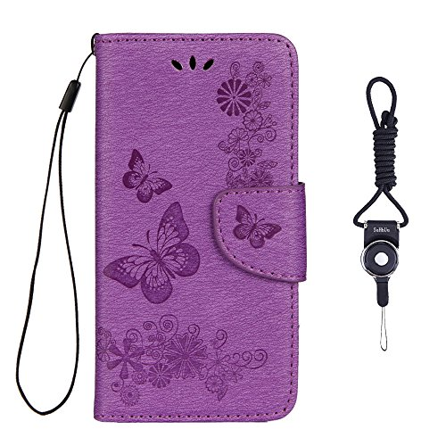 Huawei Honor 5c Case, SsHhUu Premium PU Leather Luxury Folio Wallet Magnetic Stand Credit Card Slot Flip Protective Slim Cover Case with Lanyard for Huawei Honor 5c / Honor 7 Lite / GT3 (5.2