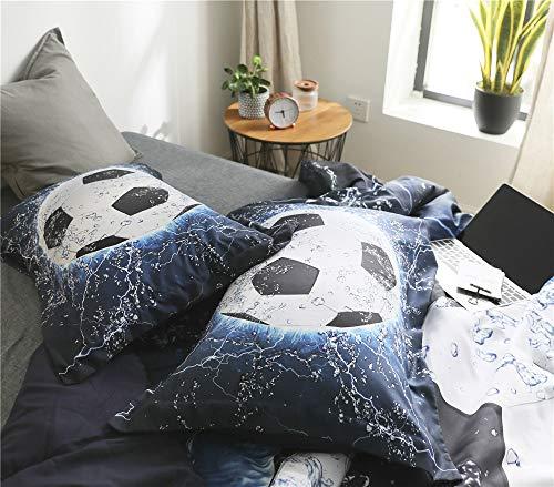 AMOR AMORE 3D Blue Football Soccer Bedding
