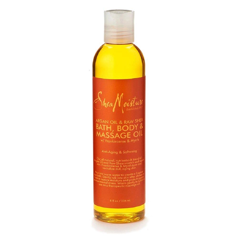 SheaMoisture Argan Oil & Raw Shea Butter Bath, Body & Massage Oil, 8 Ounce