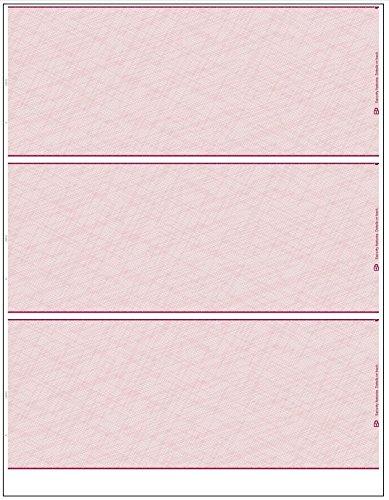 (EGP Blank Laser Check Stock, Letter Size, Three Per Sheet, Maroon, 500 Checks)