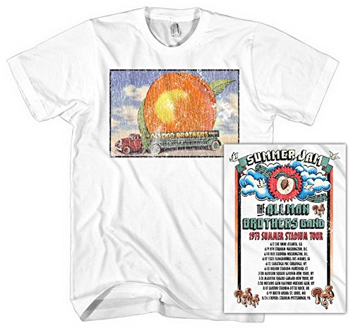 Shirts Xxl Band (Allman Brothers Band - Distressed Eat A Peach T-Shirt Size XXL)