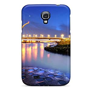 New Arrival Case Cover With IJCQWRG2819BBLis Design For Galaxy S4- Beautiful Bridges Free Big City Lights