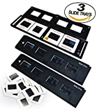 Slide Trays Set of 3 - Fits most zonoz, Wolverine Data, Jumbl, Magnasonic, Digitnow, SainSonic, ClearClick 35mm Slide Scanners