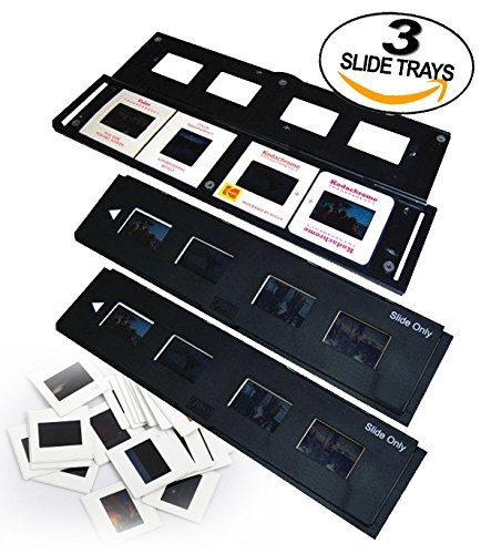 Slide Trays Set of 3 - Fits most zonoz, Wolverine Data, Jumbl, Magnasonic, Digitnow, SainSonic, ClearClick 35mm Slide Scanners by Slide Tray Holder