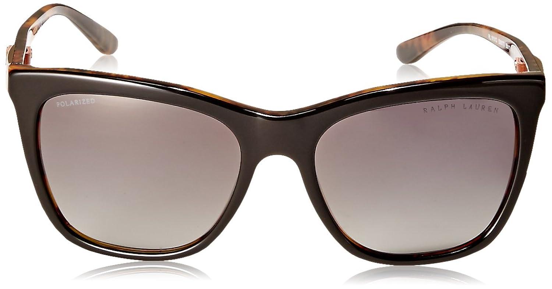 Womens 0RL8151Q 500713 Sunglasses, Striped Havana/Gradientbrown, 55 Ralph Lauren