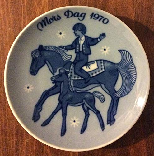 1970 Porsgrund First Mother's Day Collector's Plate, 5 1/4