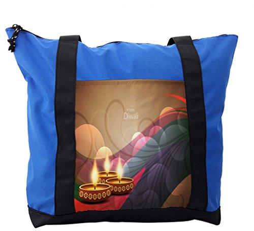 Lunarable Diwali Shoulder Bag, Celebration of Asian Holiday, Durable with Zipper by Lunarable