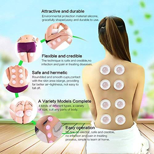 Coppettazione Silicone Coppetta Anticellulite 5 Pezzi Silicone Tazze da Massaggio Cellulite Coppettazione Terapia Corpo/Viso Anticellulite Casa Terme Assistenza Sanitaria