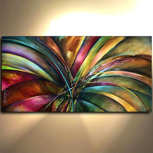 - Abstract Modern Painting, Lilys Song, Art, Giclee Canvas Print of a Mix Lang Original Painting