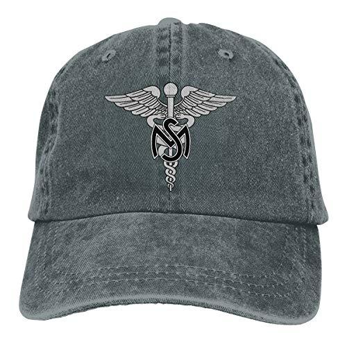 The Army Medical Services (AMS) Baseball Cap Dad Hat Adjustable Cap Visor Hat Deep -