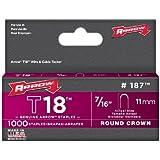 Arrow Fastener 187 Genuine T18 Staples, 1,000-Pack