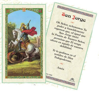 Amazon.com: Oracion a San Jorge Patron De Los Soldados ...