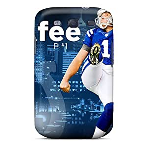Nfl2674WqoF Tpu Phone Case With Fashionable Look For Galaxy S3 - Indianapolis Colts