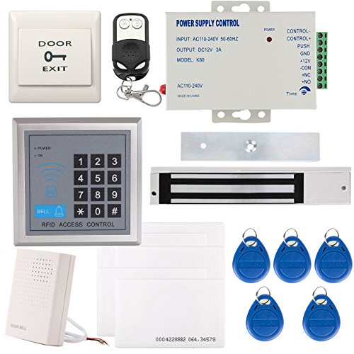 UHPPOTE 125KHz EM-ID Card 1 Door Security Access Control Entry System Kit With Electric 600Lbs Magnetic Lock