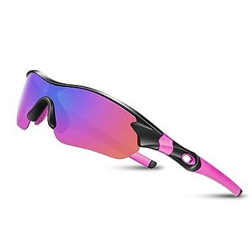 Gafas De Sol Hombre Mujer Polarizadas Ciclismo Deportivas Redondas Correr Golf Beisbol Surf Conducción Esquiando UV400 Protección TAC Lentes