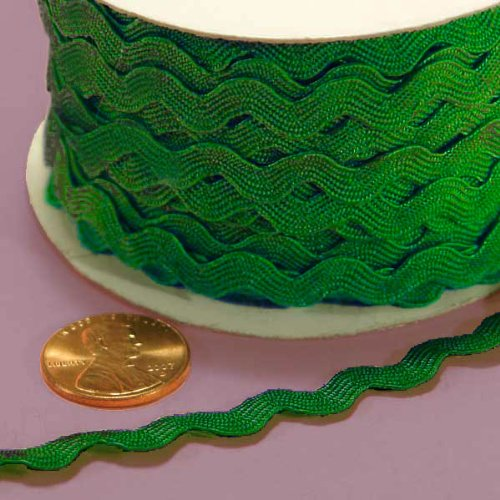 - 7MM X 25YD EMERALD RIC RAC TRIM