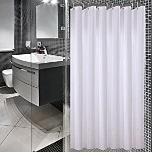 Amazon.com: Sfoothome 72 Inch Wide x 75 Inch Long Hotel Fabric Shower Curtain Waterproof and