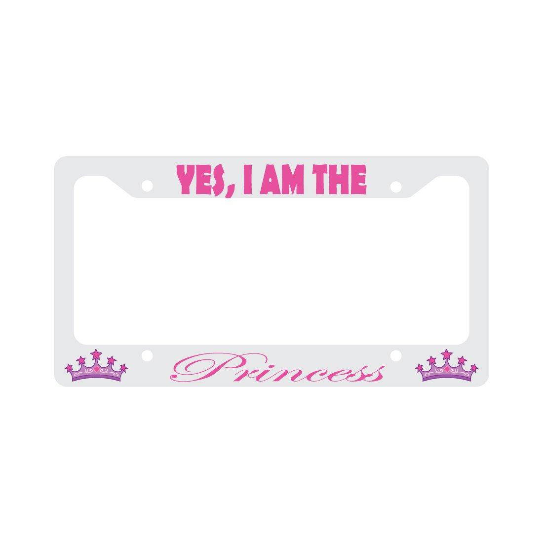 Ja, ich bin die Prinzessin, pink Krone Funny KFZ Nummernschild ...