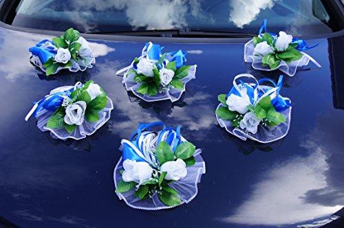 Amazon.de: 6 St. Autoschmuck Blumen Blüten Girlanden Hochzeit ...