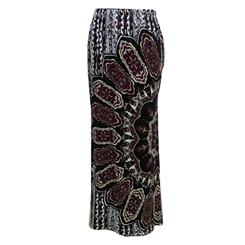 Adela Boutique Women Bohemia Floral Print Long Maxi High Waist Cocktail Skirts M by Adela Boutique