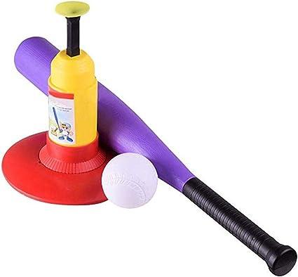 LGFB Mini Enfant Tennis Baseball Pitching Machines Jeu de Sport en Plein air Automatique Balle Machine Angle r/églable Donner Une Batte de Baseball et 10pcs Balle