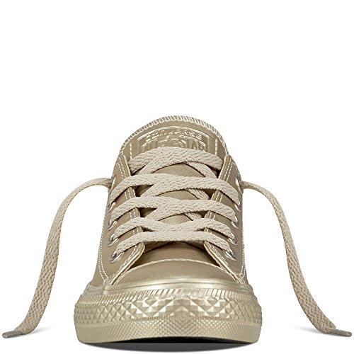 Converse Ctas OX Metallic Synth Leather - Zapatilla Baja Unisex Niños Gold