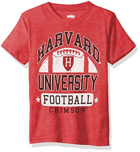 NCAA Harvard Crimson Children Boys Short Sleeve Blend Tee,6,Cherry Blend