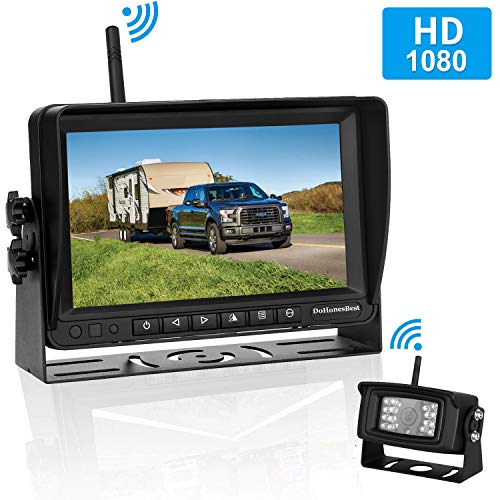 (HD1080P Digital Wireless Backup Camera and Monitor Kit High-Speed Observation System for RVs/Pickup/Campers/Trucks/Trailers with 7