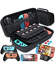 Case Compatible with Nintendo Switch Carry Case Pouch Switch Cover Case 6 Joycon Grips and PlayStand for Nintendo Switch Screen Protector Thumb Grips Caps for Nintendo Switch Accessories