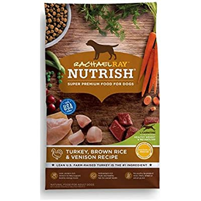 Rachael Ray Nutrish Natural Dry Dog Food, Turkey, Brown Rice & Venison Recipe, 26 lbs - 1 Pack