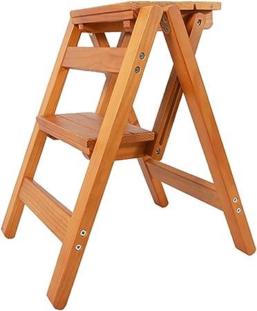 ZHAS Escalera de peldaño Plegable de 2 peldaños, Escalera de hogar Silla de Comedor Escaleras de