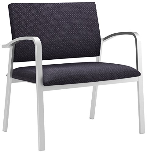 Lesro Newport Designer Fabric Bariatric Guest Chair, Axis Denim, Silver (Axis Chair)