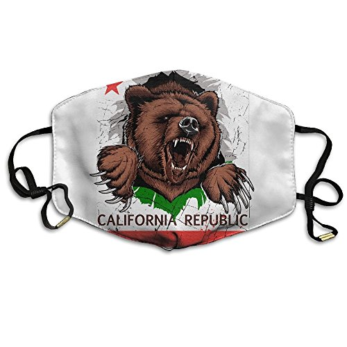 Used, N7bloom Adult California Republic Bear Flag Mouth Face for sale  Delivered anywhere in USA