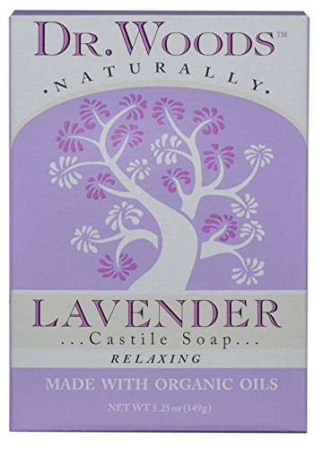 Dr. Woods Exfoliating Lavender Bar Soap with Organic Shea Butter, 5.25 oz