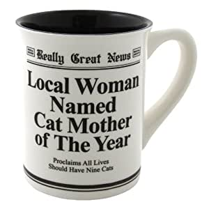 Enesco Cat Mother of The Year Mug, 4.5-inch