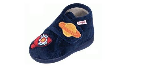 Zapatillas DE CASA NIÑO Velcro Marino Cohete ZAPY (21)