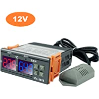 Entweg STC-3028 Digital Temperature Humidity Controller Meter Intelligent Thermostat Humidistat Hygrometer for Freezer…