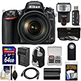 Nikon D750 Digital SLR Camera & 24-120mm f/4 VR Lens with 64GB Card + Battery & Charger + Backpack + 3 Filters + Flash + Kit