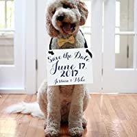 Personalized Save The Date Sign Wedding Announcement Banner Custom With Your Names and Wedding Date