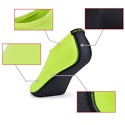 JACKSHIBO Men Women and Kids Quick-Dry Water Skin Shoes Aqua Socks For Water Sports Swim Surf Yoga Exercice Beach Green OWfpgvPmp