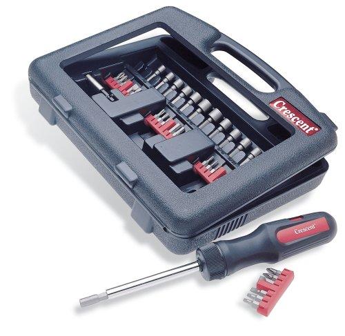 Crescent SDMBR2 Power Drive Ratcheting Screwdriver Kit, 34-Piece