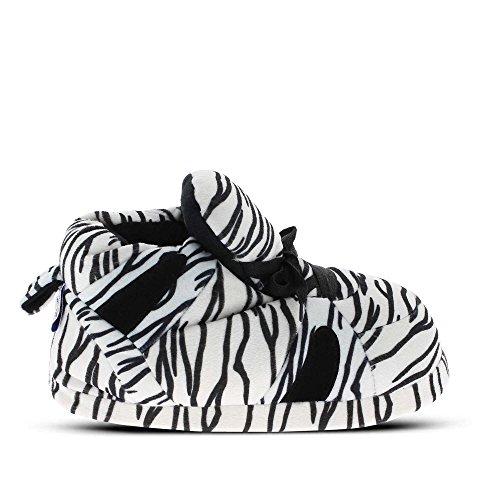Sleeper'z – Zapatillas de casa originales y divertidas de mujer – Zebra