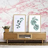"17.7""x78.7"" Self-Adhesive White/Pink Marble Contact Paper Removable Wall Contact Paper Decor Decals Decoration Textured Panel Table Drawer Shelf Wall Crafts drawer contact paper wall paper decorations"