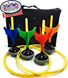 Matty's Toy Stop Deluxe Lawn Darts Set with 4 Lawn Darts, 2 Target Rings & Storage Bag