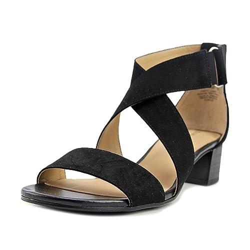 Amazon.com   Naturalizer Womens Adele Open Toe Casual Ankle Strap Sandals    Flip-Flops 45ff3441f73d