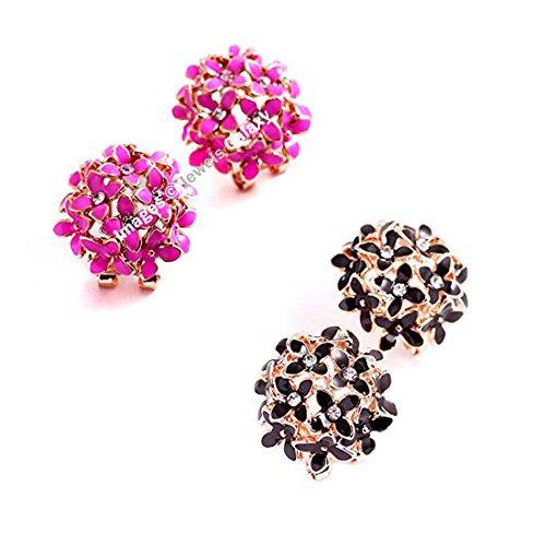 Shimmer Divine Luxuria Trendy American Diamond Floral Designer Stunning Earrings For Women/Girls