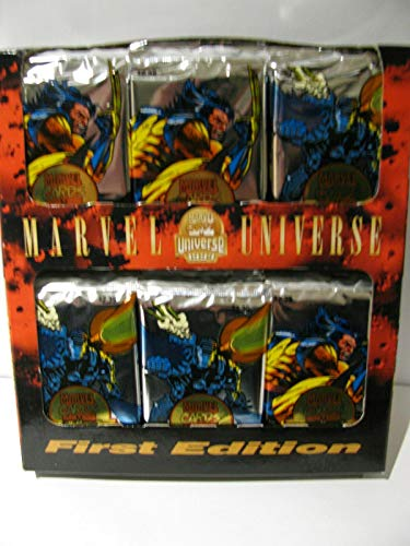 12 Box Factory Sealed Case - MARVEL UNIVERSE 1994 1ST EDITION 36 PACKS FACTORY SEALED BOX