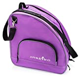 Athletico Ice & Inline Skate Bag - Premium Bag to Carry Ice Skates, Roller Skates, Inline Skates for Both Kids and Adults (Purple)