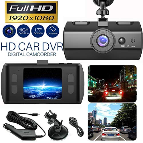 HD 1080P Car DVR Vehicle Camera Video Recorder Motion Detection, Parking Monitoring, G-Sensor, 170° Wide Angle, Loop Recording Dash Cam Night Vision 1.7 inch