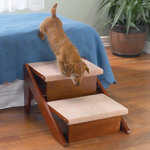 Pet Studio Pine Frame Dog RampSteps, 2 Step